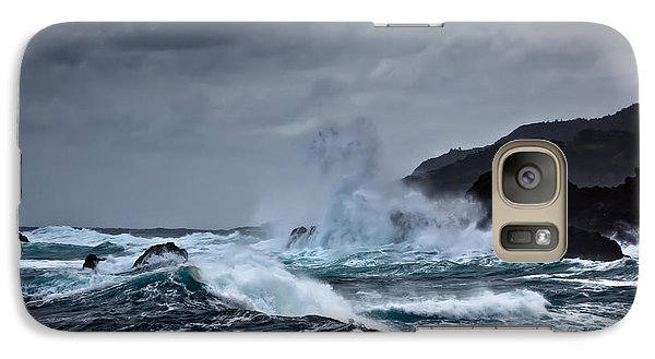 Galaxy Case featuring the photograph I Will Embrace The Moon by Edgar Laureano