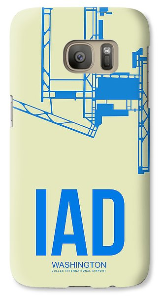 Iad Washington Airport Poster 1 Galaxy S7 Case by Naxart Studio