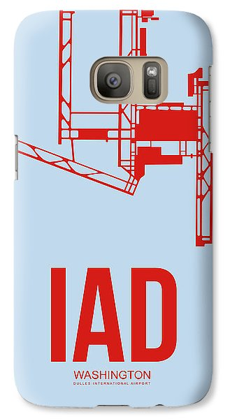 Iad Washington Airport Poster 2 Galaxy S7 Case by Naxart Studio