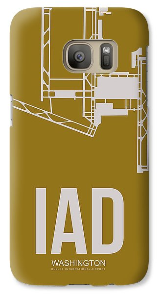Iad Washington Airport Poster 3 Galaxy S7 Case by Naxart Studio