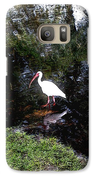 Galaxy Case featuring the photograph Ibis In Pond by Irma BACKELANT GALLERIES