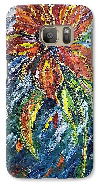 Galaxy Case featuring the painting Ibiscus Fire And Ice by Kathleen Pio