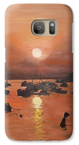 Galaxy Case featuring the painting Ibiza Sunset by Cherise Foster