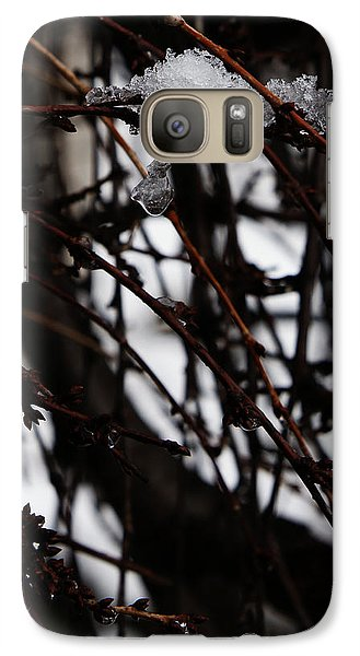 Galaxy Case featuring the photograph Ice 2 by Linda Shafer