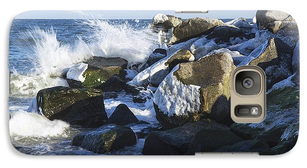 Galaxy Case featuring the photograph Ice And Snow At Herring Point by Robert Pilkington