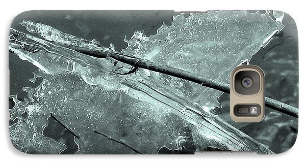 Galaxy Case featuring the photograph Ice-bird On The River by Nina Silver