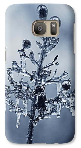 Galaxy Case featuring the photograph Ice Bouquet by Linda Segerson