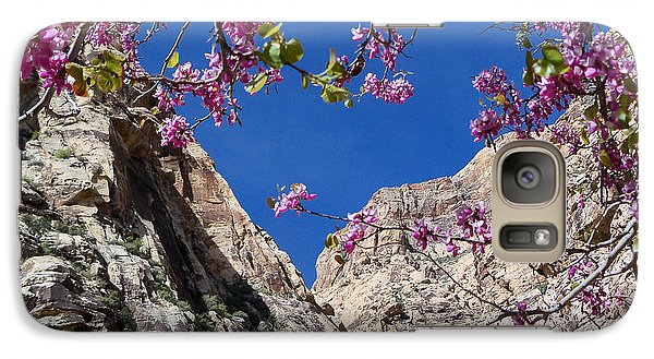 Galaxy Case featuring the photograph Ice Box Canyon In April by Alan Socolik