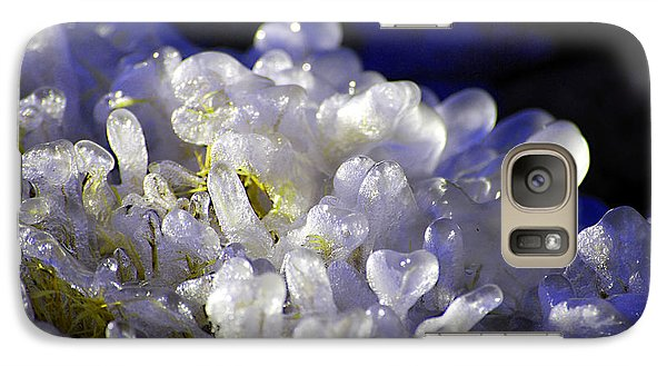 Galaxy Case featuring the photograph Ice Bubbles by Linda Cox