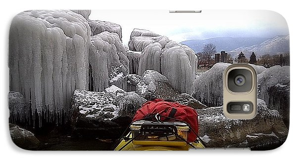 Galaxy Case featuring the photograph Ice Cathedral - November Ice by Guy Hoffman
