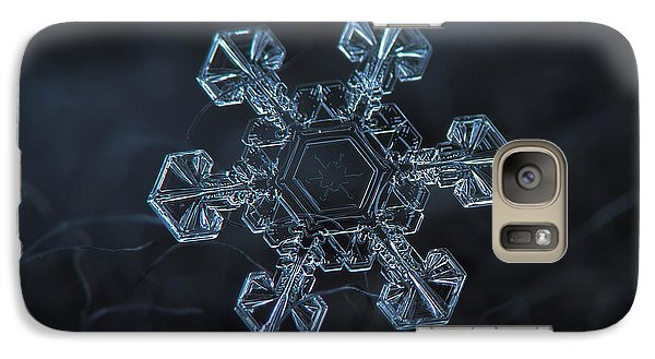 Galaxy Case featuring the photograph Snowflake Photo - Ice Crown by Alexey Kljatov