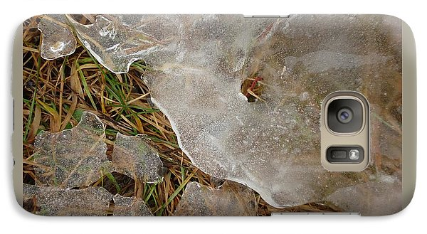 Galaxy Case featuring the photograph Ice Edges-i by Patricia Overmoyer