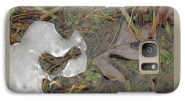 Galaxy Case featuring the photograph Ice Edges-ii by Patricia Overmoyer