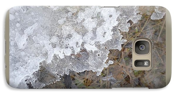 Galaxy Case featuring the photograph Ice Edges-iv by Patricia Overmoyer