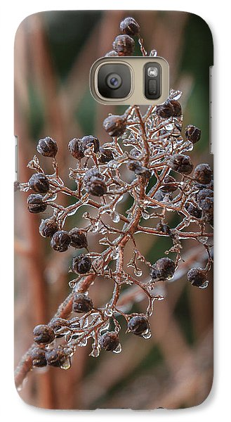 Galaxy Case featuring the photograph Ice On Berries by Patricia Schaefer