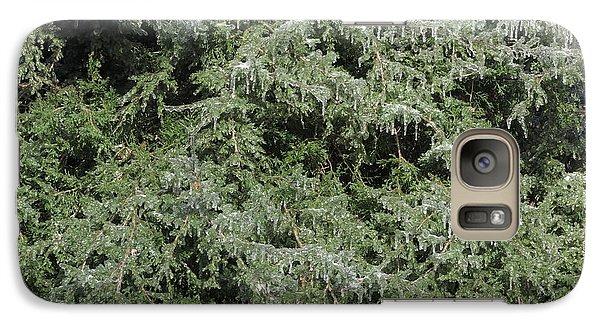 Galaxy Case featuring the photograph Ice On Eastern Red Cedar by Daniel Reed