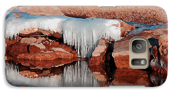 Galaxy Case featuring the photograph Ice On Ice by Linda Cox
