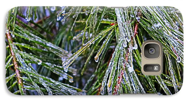 Galaxy Case featuring the photograph Ice On Pine Needles  by Daniel Reed