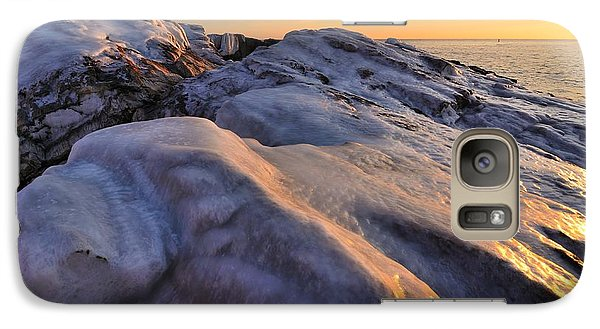 Galaxy Case featuring the photograph ice by Paul Noble