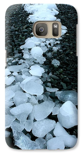 Galaxy Case featuring the photograph Ice Pebbles by Amanda Stadther