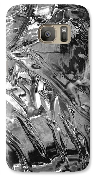 Galaxy Case featuring the photograph Ice Series 14 by John  Bartosik