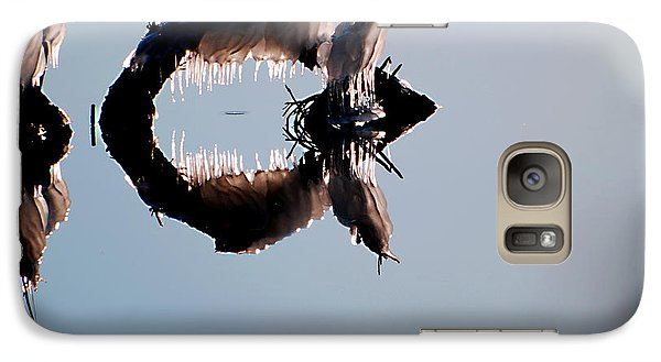 Galaxy Case featuring the photograph Ice Snail by Linda Cox