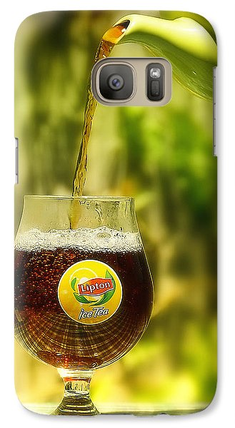 Galaxy Case featuring the photograph Ice Tea 01 by Kevin Chippindall