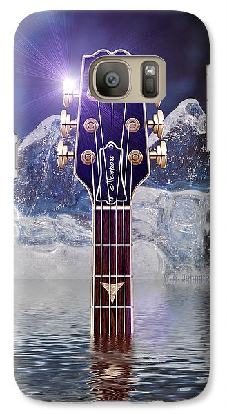Galaxy Case featuring the digital art Iceberg Blues by WB Johnston
