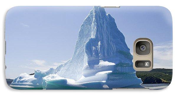 Galaxy Case featuring the photograph Iceberg Canada by Liz Leyden