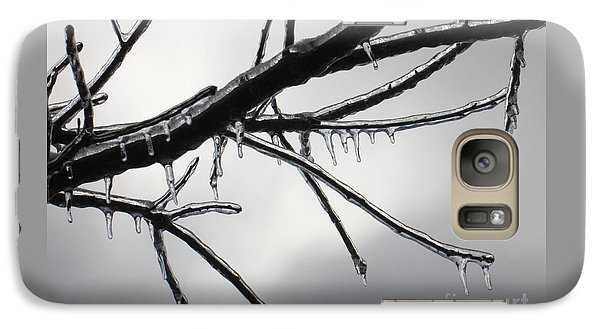 Galaxy Case featuring the photograph Iced Tree by Ann Horn