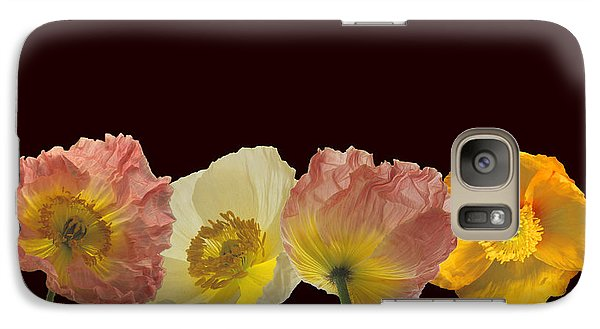 Galaxy Case featuring the photograph Iceland Poppies On Black by Susan Rovira