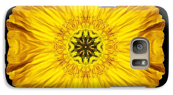 Galaxy Case featuring the photograph Iceland Poppy Flower Mandala by David J Bookbinder