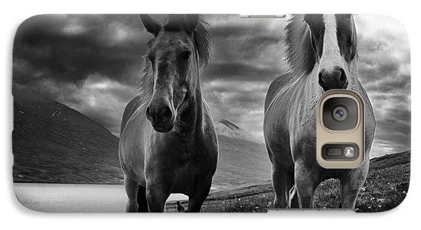 Galaxy Case featuring the photograph Icelandic Horses by Frodi Brinks