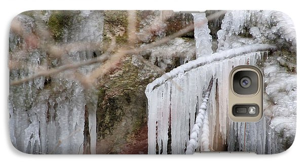 Galaxy Case featuring the photograph Icicle Creek by Kimberly Mackowski