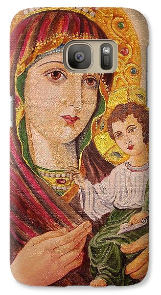 Galaxy Case featuring the painting Icon by Nina Mitkova