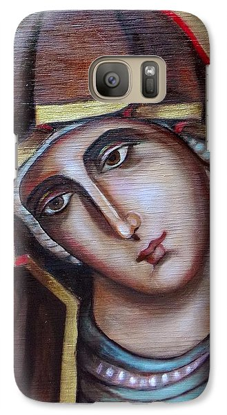 Galaxy Case featuring the painting Icon Of Virgin Mary by Irena Mohr