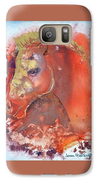 Galaxy Case featuring the painting Iconic Horse Head by Joan Hartenstein