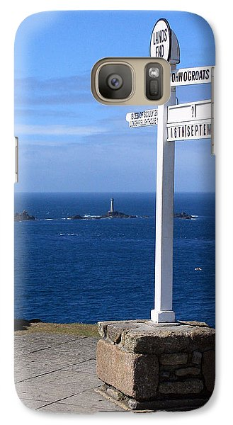 Galaxy Case featuring the photograph Iconic Lands End England by Terri Waters
