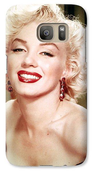 Marilyn Monroe Galaxy S7 Case - Iconic Marilyn Monroe by Georgia Fowler