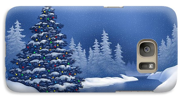 Galaxy Case featuring the digital art Icy Blue by Scott Ross