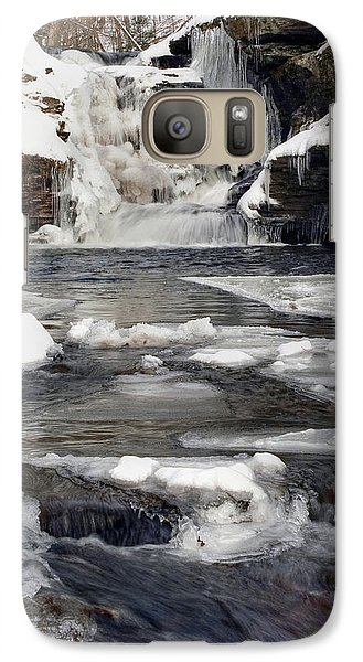 Galaxy Case featuring the photograph Icy Flow Below Murray Reynolds Waterfall by Gene Walls