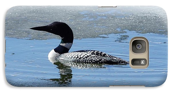Galaxy Case featuring the photograph Icy Loon by Steven Clipperton