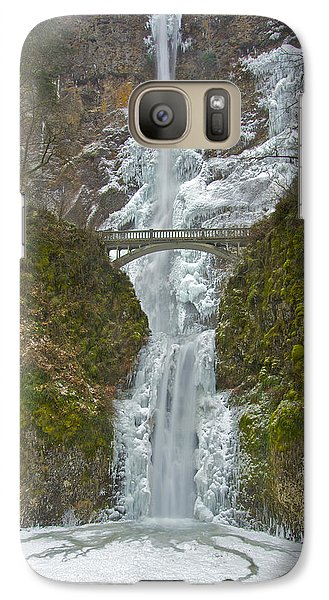 Galaxy Case featuring the photograph Icy Multnomah Falls 120713a by Todd Kreuter
