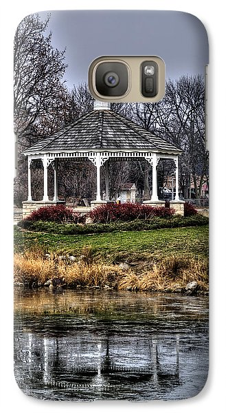 Galaxy Case featuring the photograph Icy Reflection by Deborah Klubertanz