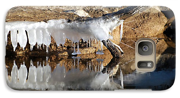 Galaxy Case featuring the photograph Icy Teeth by Linda Cox