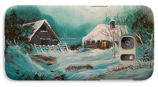 Galaxy Case featuring the painting Icy Twilight by Sharon Duguay