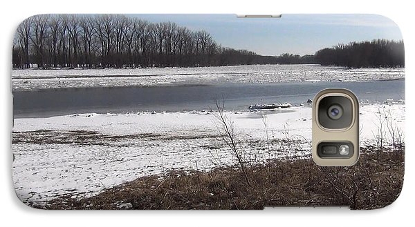 Galaxy Case featuring the photograph Icy Wabash River by Tony Mathews