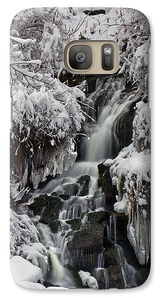 Galaxy Case featuring the photograph Icy Waterfalls by Timothy McIntyre