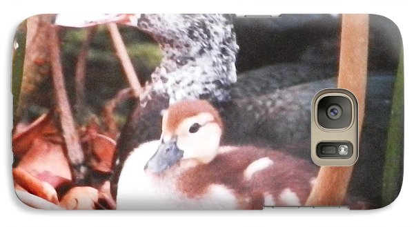 Galaxy Case featuring the photograph Mother And Baby Duckling by Belinda Lee