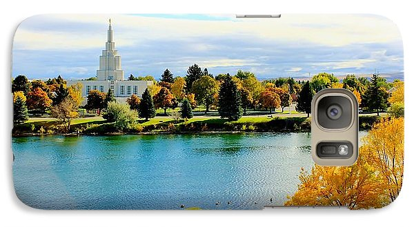 Galaxy Case featuring the photograph Idaho Falls Temple by Benjamin Yeager